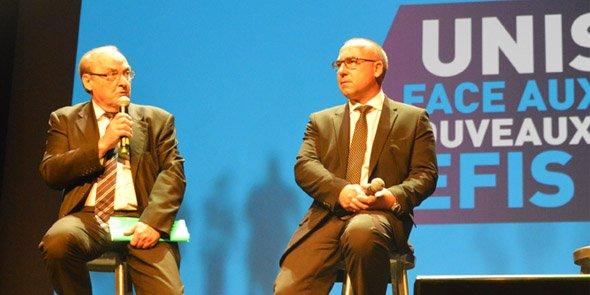 Francis Cabanat et Éric Giraudier, à l'époque où ils faisaient liste commune pour les élections consulaires de décembre 2016
