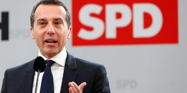 Le chancelier autrichien Christian Kern lors d'une réunion organisée par le parti social démocrate le premier mars dernier.