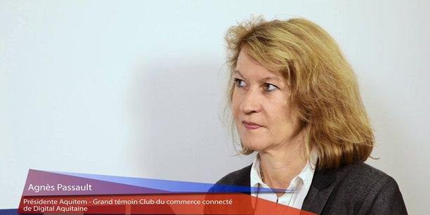 Agnès Passault, présidente d'Aquitem, était le grand témoin de la master class changer le commerce lors de Biznext.