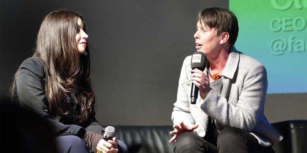 La consultante Natacha Quester-Séméon et Claudia Zimmer (Aquafadas) ont assuré l'un des six Duos de choc de la soirée, sur le thème des loisirs numériques