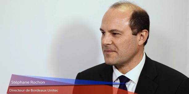 Stéphane Rochon est le directeur de Bordeaux Unitec, qui accompagne les entreprises sur 17 sites de la métropole.