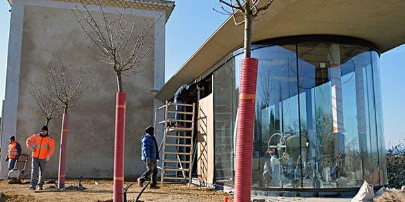 Le restaurant est en cours de construction sur le chantier de rénovation des 9 Écluses (12 M€ de travaux au total)