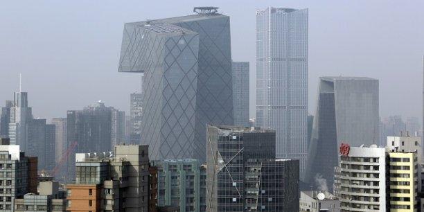 Le quartier des affaires de Pékin, symbole de la concentration des richesses de la Chine.