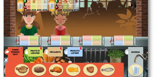 Le jeu koamchef permet aux enfants de 6 à 10 de s'initier à l'équilibre alimentaire.