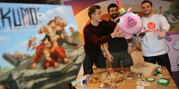 Les trois fondateurs de l'éditeur de jeux Morning