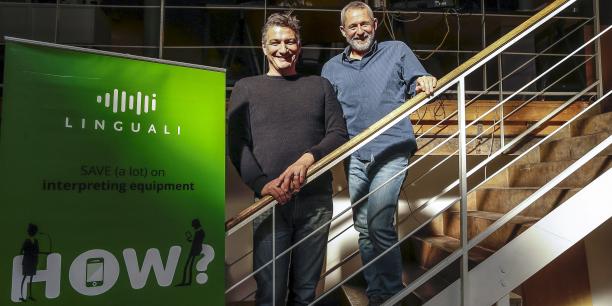 James Anderson et François-Xavier Bodin, cofondateurs de Linguali.