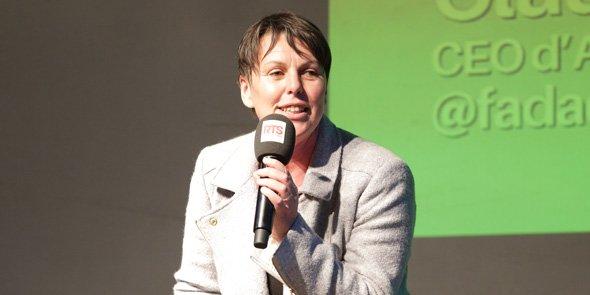 Claudia Zimmer, cofondatrice d'Aquafadas, lors du Lab'Objectif 2017, le 2 mars à Montpellier