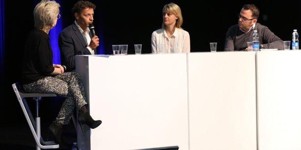 Benoit Panel, Célia Belline, et Pierre Olivier Bessol ont répondu aux questions d'Emmanuelle Durand-Rodriguez lors du Sommet Économique Nouvelle-Aquitaine / Occitanie