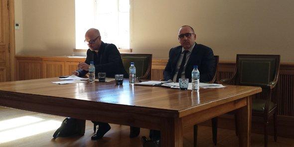 Éric Butel, trésorier, et Éric Giraudier, président de la CCI du Gard