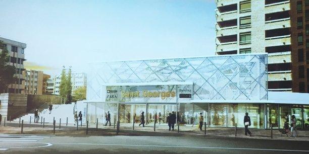 La future entrée de l'espace Saint-Georges côté boulevard Carnot