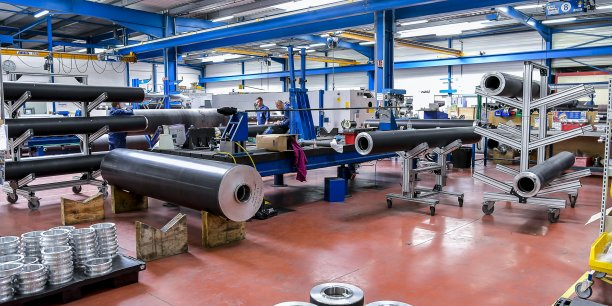 Epsilon Composite fabrique 20.000 rouleaux techniques par an, activité qui génère la moitié du chiffre d'affaires.