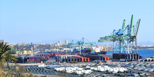 Contrairement à Bordeaux, le terminal à conteneurs du Grand port maritime de Marseille (notre photo) fonctionne sans problème.