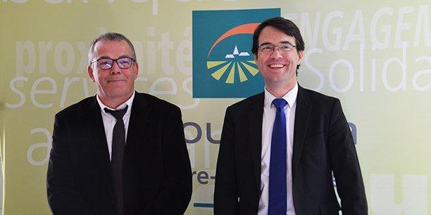 Denis Roumegous, président de la fédération départementale de Gironde et Sylvain Merlus, directeur général délégué de Groupama Centre-Atlantique