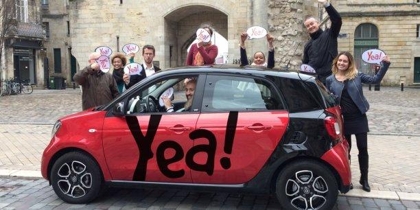 L'offre Yea! a été lancée il y a un an dans la capitale girondine par Citiz Bordeaux. Le réseau national Citiz prévoit d'ailleurs de l'ouvrir à Grenoble en juin prochain.