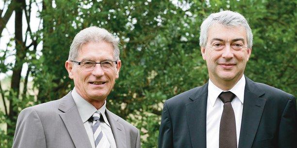 André Samier, président, et Alain Condaminas, directeur général de la BPO.