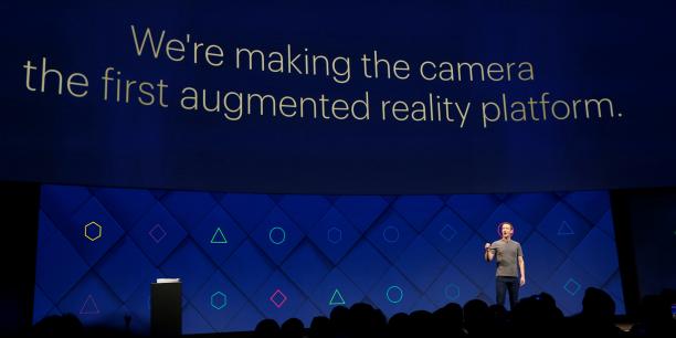 Mark Zuckerberg, le 18 avril 2017, lors de la conférence annuelle pour les développeurs à San José (Californie).