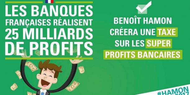 Les banques ? Emmanuel Macron, ex-banquier d'affaires chez Rothschild & Cie pendant quatre ans, faut-il le rappeler, est celui qui en parle le moins : dans le programme de son mouvement En Marche!, le mot banque n'apparaît qu'une fois. Marine Le Pen, elle, n'est pas très explicite : dans sa rubrique soutenir les entreprises en privilégiant l'économie réelle, elle évoque le secteur de manière indirecte.