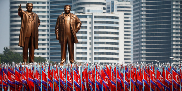 La Corée du Nord célébrait le 15 avril 2017 le 105e anniversaire de la naissance de Kim Il-sung, fondateur du régime communiste et grand-père de l'actuel dirigeant Kim Jong-Un.