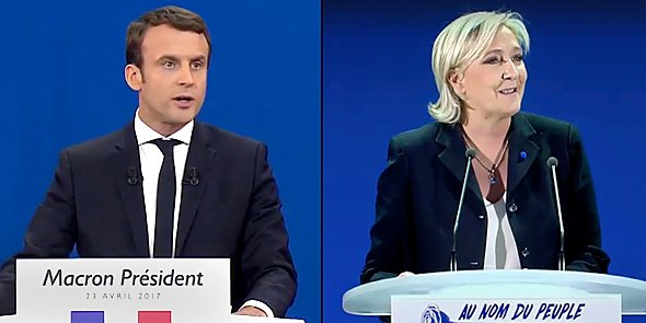 Emmanuel Macron (EM) devance Marine Le Pen (FN) sur le plan national au soir du 1er tour, mais la tendance s'inverse nettement dans l'ex-LR.