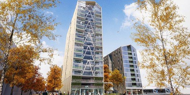 La tour Silva de Kaufman & Broad, 50 mètres de haut, a été retenue par le jury de Bordeaux Euratlantique.