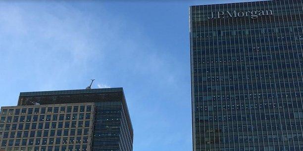 La tour de JP Morgan à Canary Wharf, le quartier d'affaires de Londres, 25 Bank Street, était occupée par Lehman Brothers avant la crise financière. La banque américaine emploie 16.000 personnes au Royaume-Uni.