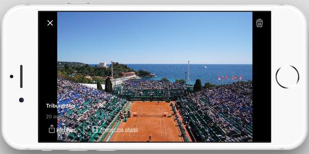 L'application a été officiellement lancée lors du tournoi de tennis Monte-Carlo Rolex Master Series