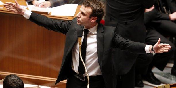 Emmanuel Macron, le 17 février 2015, à l'Assemblée nationale en tant que ministre de l'Economie.