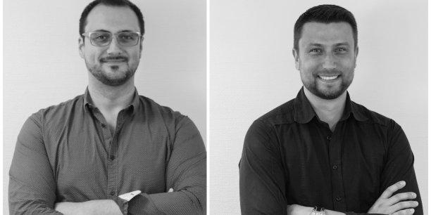 Julien Guiraud (à gauche) et Stéphane Jakubyszin (à droite), les cofondateurs de la startup Pangée.