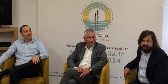 Groupe familial, le groupe Clinipole est dirigé par Olivier Constantin (à g.) présidé par Serge Constantin (au centre). À droite, Thomas Constantin est responsable du développement de l'image du groupe.