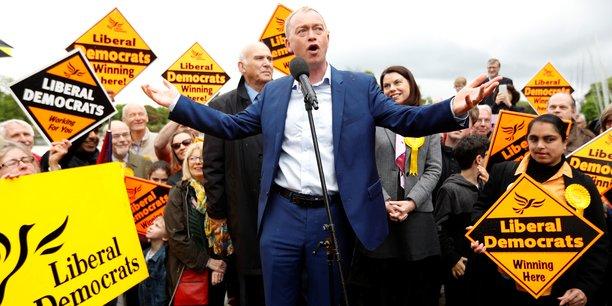 Le leader du parti Tim Farron lors du lancement de la campagne pour les législatives, le 1er mai.
