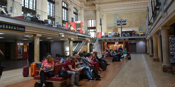 Le hall 1 de la gare Saint-Jean à Bordeaux. Cet espace pourra se transformer de façon éphémère en scène culturelle.