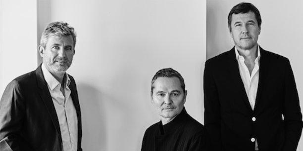 Roland Coutas, Bruno Barde et Frédéric Houzelle, les trois hommes derrière la nouvelle plateforme e-cinema.com, lancée le 8 septembre.