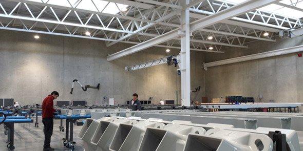 L'extension du site industriel a permis le transfert de la zone d'assemblage de l'ancien vers le nouveau bâtiment