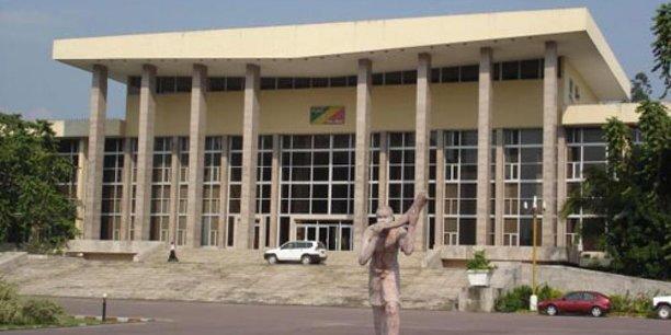 Le palais du parlement de Congo-Brazzaville.