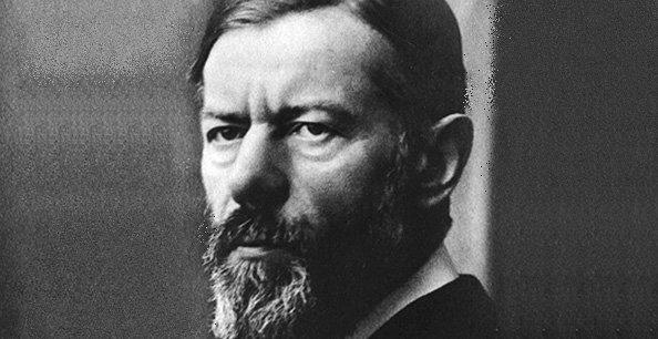 Max Weber, économiste et sociologue allemand du début du XXe siècle. Il fait partie des fondateurs de la sociologie moderne, qui analyse le mode de fonctionnement et la finalité de la société industrielle.