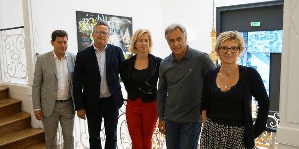Didier Soumaille, Aymar de Blomac, Aurélie Billat, François Guarino et Christine Guérinet