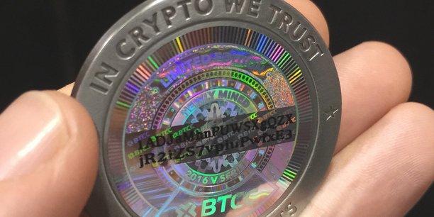 Bitcoin de la première collection de BTC China.(Photo : Jon Russel /CC BY.)