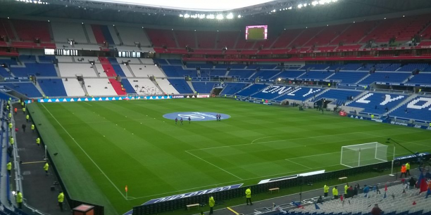 Le Parc Olympique Lyonnais.