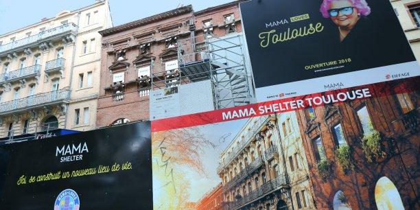 Les travaux en cours pour le Mama Shelter en centre-ville de Toulouse