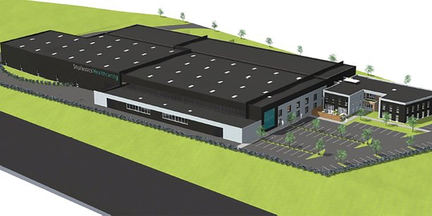 Image de synthèse de la prochaine usine 4.0 de Stiplastics.