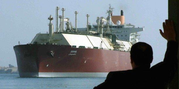 L'un des plus grands méthaniers du monde, le Duhail, naviguant sous pavillon qatari.