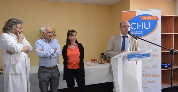 Thomas Le Ludec, le directeur général du CHU de Montpellier, inaugurait les nouvelles urgences psychiatriques, le 7juin, à l'hôpital Lapeyronie.