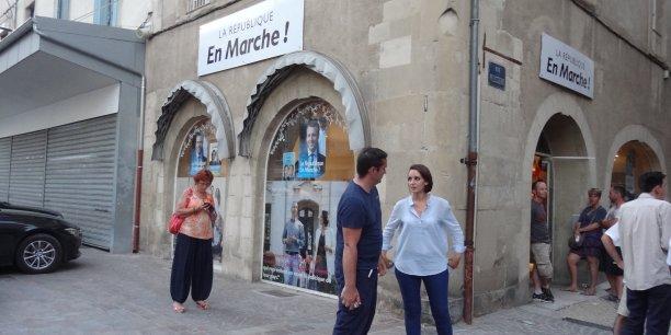 Le local de campagne de Latifa Chay, à Romans-sur-Isère (Drôme).