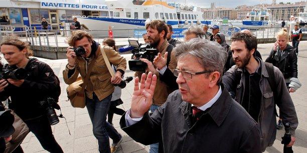 Jean-Luc Mélenchon (France Insoumise) à Marseille, le 11 juin 2017.