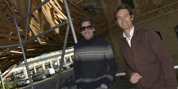 Philippe Barre, président du groupe Evolution, et Jean-Marc Gancille, directeur de la transition écologique à Evolution