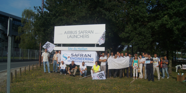 Une cinquantaine de salariés étaient mobilisés ce matin au Haillan.