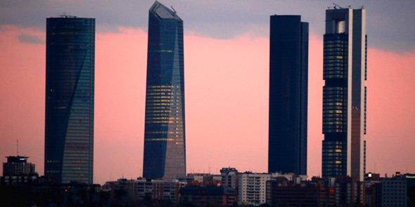 Candidate à la labellisation French Tech, Madrid (ici la quartier d'affaires CTBA) participe au train éponyme.