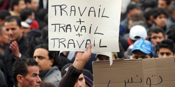 Manifestation contre le chômage, le 25 janvier 2011 à Tunis.