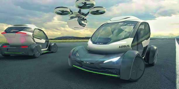 Airbus has designed Pop.Up, an automated mini-vehicle capable to move both on the ground and in the air