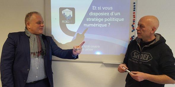 Stéphane Boisson et Philippe Gérard, fondateurs de Poligma à Montpellier.